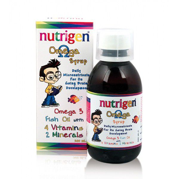Nutrigen Omega Fish Oil Syrup, 1600mg