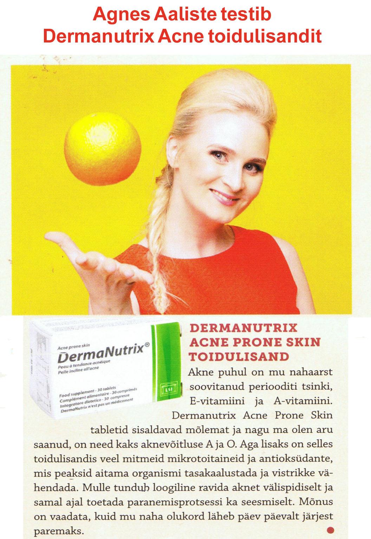 Agnes Aaliste testib Dermanutrix Acne Prone Skin toidulisandit