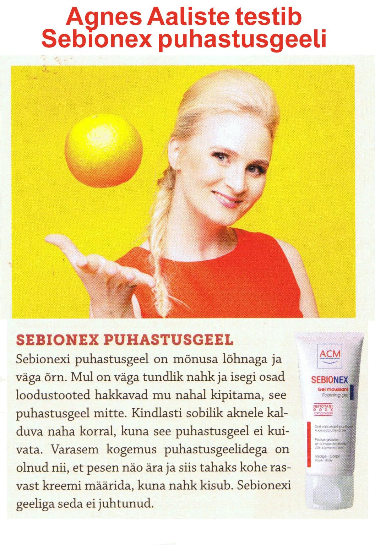 Agnes Aaliste testib Sebionex puhastusgeeli