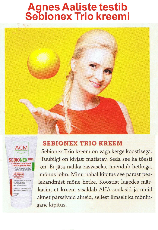Agnes Aaliste testib Sebionex Trio kreemi